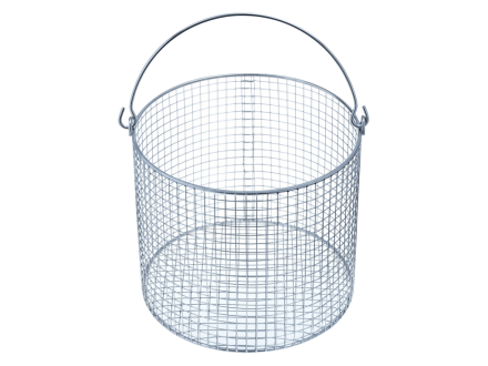 Wire basket can be used to put glass tubes and vessels in an autoclave. It is made of stainless steel.