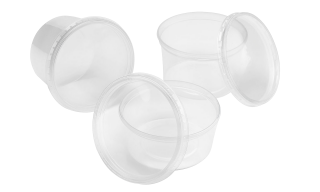 These round polypropylene culture vessels for plant tissue culture are available (non-)sterile in heights 50, 70 and 80 mm.