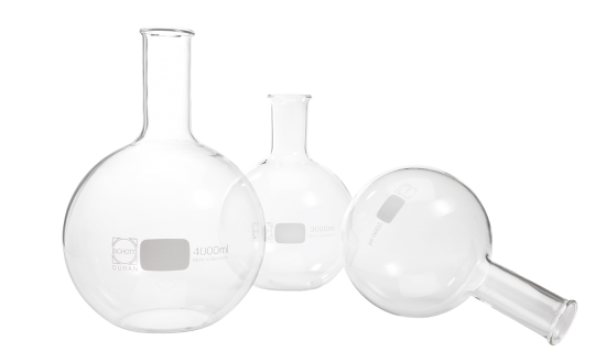 The Flat bottom flask can be used in laboratories for distillation, heating or containing a chemical reaction.