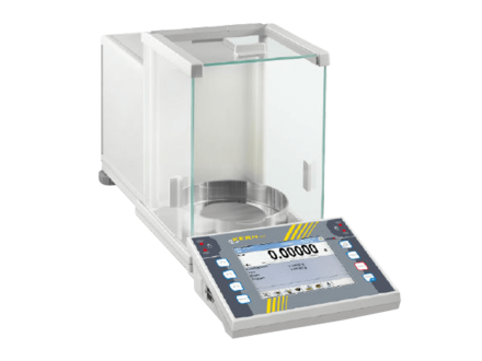 The KERN analytical balance AET is a premium touchscreen analytical balance with a complete range of functions.