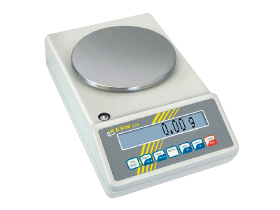 The KERN precision balance 573 is an all-rounder for laboratory purposes with precise counting and simple user guidance.