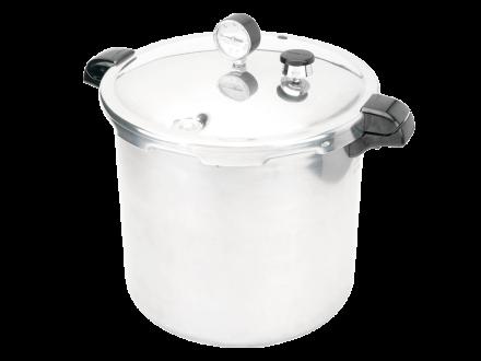 Presto's Pressure Canner and Cooker 23-Quart.