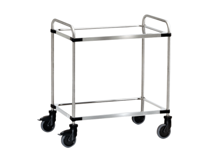 The stainless steel transport trolley is specially designed for the transportation of racks and trays in laboratories.
