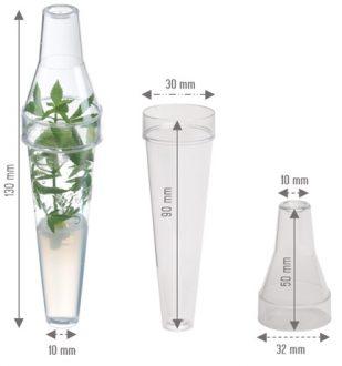 al plant tissue culture plastic tubes measurements