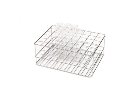 stainless steel wire rack for glass tubes 6x8