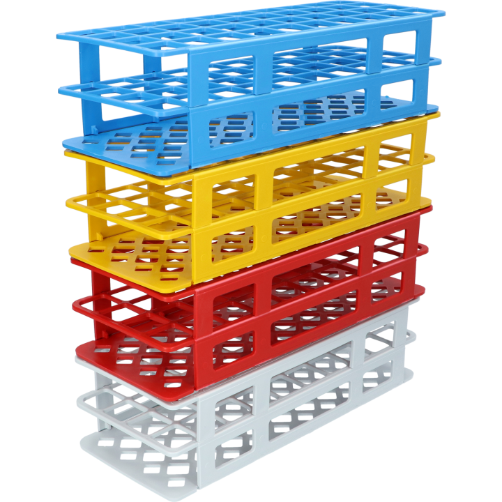plastic tube racks 4x10 - multiple colours