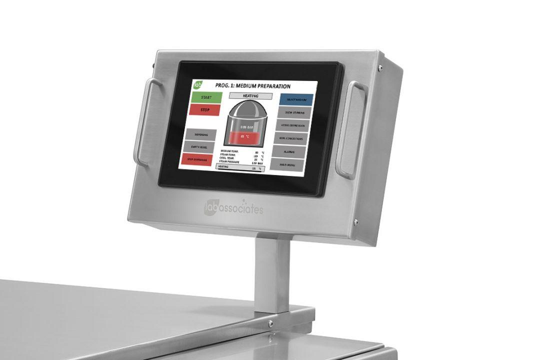 Media preparator touch screen
